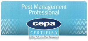 Η PROSTASIA Pest Control Services S.A. πιστοποιήθηκε Pest Management Professional από την CEPA